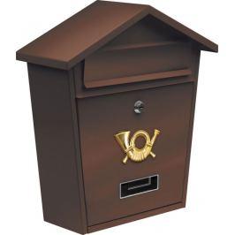 Vorel Poštovní schránka se stříškou - hnědá