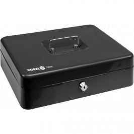 Vorel Pokladna příruční 300x240x90mm černá, 2klíče