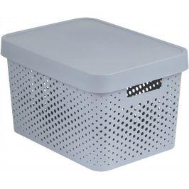 Úložný box INFINITY DOTS  - 17 L, šedý