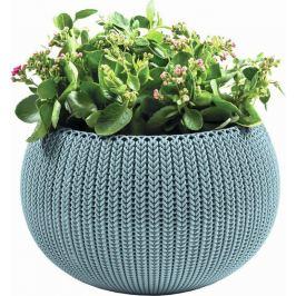KETER Květináč COZY M závěsný - mlhavě modrá