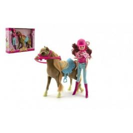 Kůň + panenka žokejka plast
