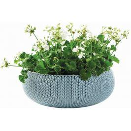 KETER Květináč COZY L - mlhavě modrá