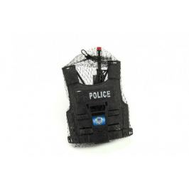 Teddies sada policejní pistole a přilba s doplňky plast 38 cm v síťce