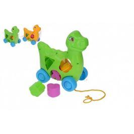 Vkládačka dinosaurus tahací plast 17x19cm