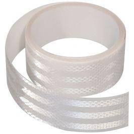 Samolepící páska reflexní - 5 m x 5 cm, bílá (role 5 m)