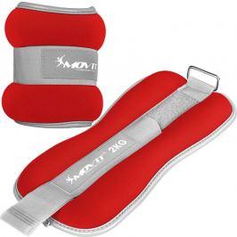 MOVIT 66385 Neoprenové zátěžové reflexní manžety - 2 x 2 kg