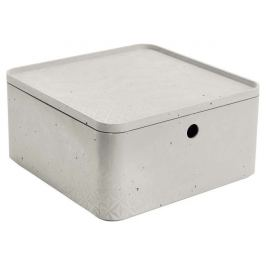 CURVER BETON Úložný box s víkem  - L