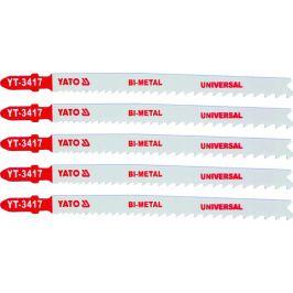 Yato List pilový do přímočaré pily 130 mm UNI TPI10-5, 5 ks