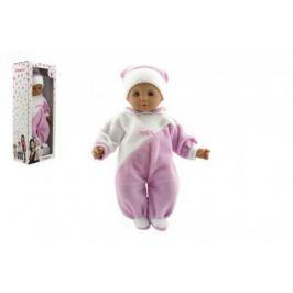 Hamiro panenka miminko 40cm textilní růžovo-bílý obleček plast