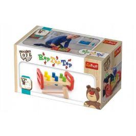 Wooden Toys Zatloukačka s kladívkem dřevěná v krabici 22,5x12,5x10,5cm 12m+
