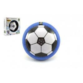 Teddies 58477 Míč / Disk fotbalový létající plast 14cm na baterie se světlem