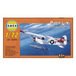 Směr plastikový model letadla ke slepení Piper L 4 plováky 1:72