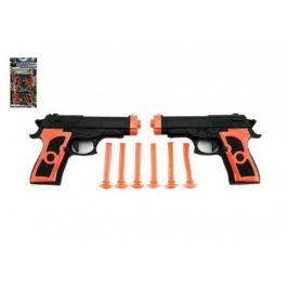 Pistole 2ks na přísavky plast 15cm