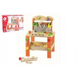Teddies 56039 Stůl/Ponk s nářadím dřevo 38ks 40x56x28cm