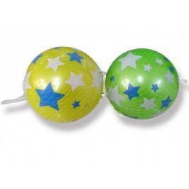Míč s hvězdami plast 15 cm asst 2 barvy v síťce