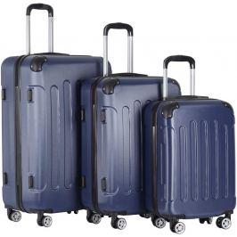 Vojagor 74208 Sada cestovních kufrů 3-dílná, tvrdý plast, tmavě modrá