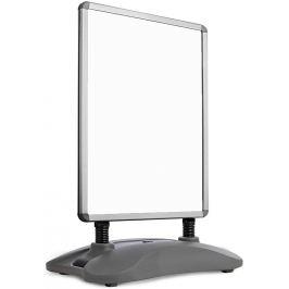 Jago 74185 reklamní stojan, stříbrný