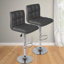 Miadomodo 74111 Barová stolička, šedá, 2 ks