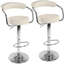 Miadomodo 74096 Sada barových židlí 2 ks, béžová, 53 x 105 x 52 cm