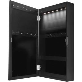 Miadomodo 74085 Šperkovnice se zrcadlem, LED osvětlení, černá