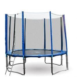 GoodJump 4UPVC modrá trampolína 305 cm s ochrannou sítí + žebřík