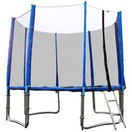 GoodJump 4UPVC modrá trampolína 400 cm s ochrannou sítí + žebřík