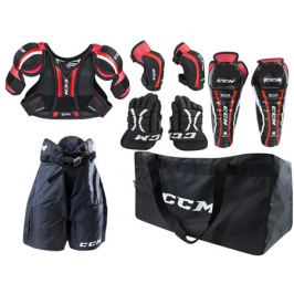 Dětský set chráničů na hokej CCM U+ Entry Kit Doplňky hokejové výstroje