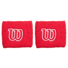 Potítka Wilson Wristband 2.5´´ Red (2 ks)