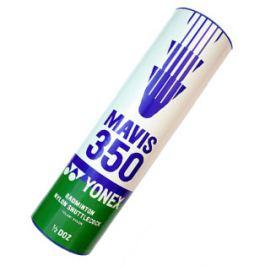 Badmintonové míče Yonex Mavis 350 White (dóza po 6 ks) Badmintonové košíčky