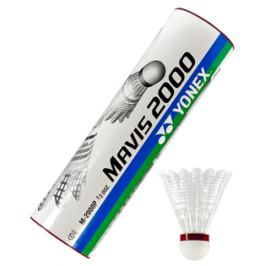 Badmintonové míče Yonex Mavis 2000 White (dóza po 6 ks) Badmintonové košíčky