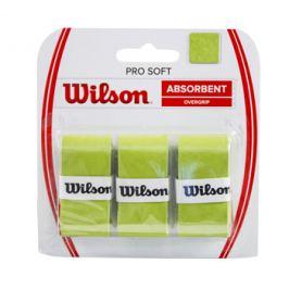 Omotávka na rakety vrchní Wilson Pro Soft Overgrip Lime (3 ks)