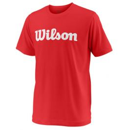 Dětské tričko Wilson Team Script Red Dětská trička