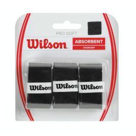 Omotávka na rakety vrchní Wilson Pro Soft Overgrip Black (3 ks) Tenisové gripy