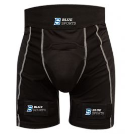 Šortky se suspenzorem Blue Sports Pro Velcro Compression SR