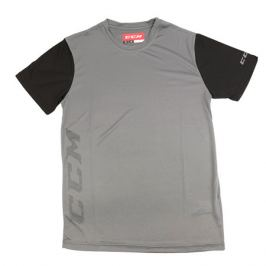 Triko CCM Tech Tee Dark Grey/Black SR