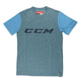 Triko CCM Tech SS Tee Heather Blue/Azure Blue SR