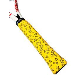 Omotávka na rakety vrchní Alien Pros X-Dry Plus Yellow Stars