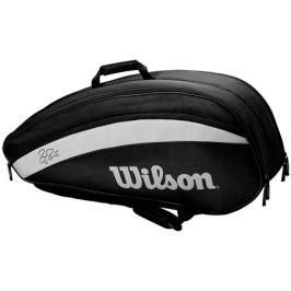 Taška na rakety Wilson Federer Team 6 Pack 2020 Black