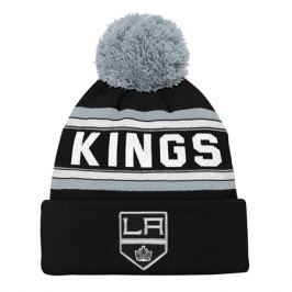Dětská zimní čepice Jacquard Cuffed Knit With Pom NHL Los Angeles Kings