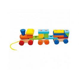 Barevný vláček se 2 vagóny