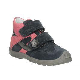 Kotníčková kožená dívčí obuv