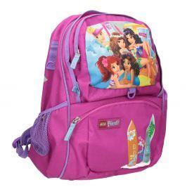 Růžový školní batoh
