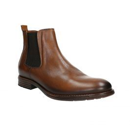 Hnědé kožené Chelsea Boots