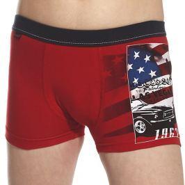 Chlapecké boxerky America červené