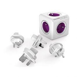 PowerCube Rewirable + Travel Plugs fialový