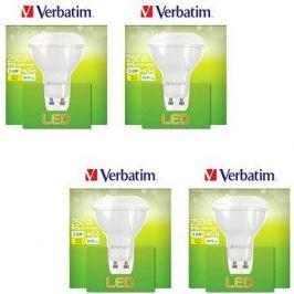 Verbatim 3.6W LED GU10 2700K set 4ks