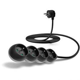 CONNECT IT prodlužovací 230 V, 4 zásuvky, 3m, černý