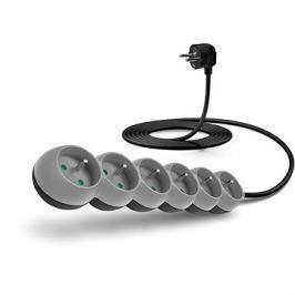 CONNECT IT prodlužovací 230 V, 6 zásuvek, 3m, šedý