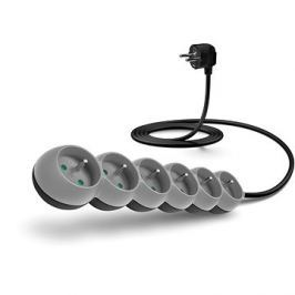 CONNECT IT prodlužovací 230 V, 6 zásuvek, 2m, šedý