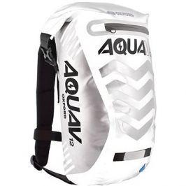 OXFORD vodotěsný batoh Aqua V12 Extreme Visibility, (bílá/šedá/reflexní prvky), objem 12l